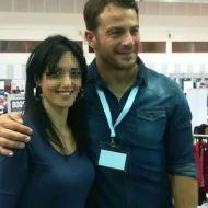Ο Γιώργος μαζί με φαν στο Job Festival Θεσσαλονίκης 2019 - 8 Νοεμβρίου 2019 Φωτογραφία: souzi_ss via giorgos_aggelopoulos_friends Instagram