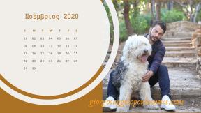 Ημερολόγιο Γιώργος Αγγελόπουλος - Νοέμβριος 2020