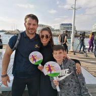 """Ο Γιώργος στην εκδήλωση """"Κολυμπώ με τους Ο.Υ.Κ."""" για τη στήριξη των παιδιών που νοσηλεύονται στο Παιδογκολογικό τμήμα του Μακάρειου Νοσοκομείου και των οικογενειών τους - 21 Δεκεμβρίου 2019 Φωτογραφία: 1mara_costa Instagram"""