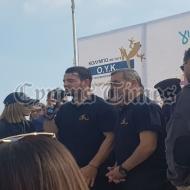 """Ο Γιώργος στην εκδήλωση """"Κολυμπώ με τους Ο.Υ.Κ."""" για τη στήριξη των παιδιών που νοσηλεύονται στο Παιδογκολογικό τμήμα του Μακάρειου Νοσοκομείου και των οικογενειών τους - 21 Δεκεμβρίου 2019 Φωτογραφία: cyprustimes.com"""