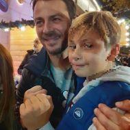 """Ο Γιώργος κατά την παρουσίαση στα εγκαίνια του """"Christmas Factory και της Επέλασης των Ξωτικών"""" στην Τεχνόπολη στο Γκάζι - 30 Νοεμβρίου 2019 Φωτογραφία: danos_ga.fans Instagram"""