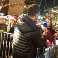 """Ο Γιώργος κατά την παρουσίαση στα εγκαίνια του """"Christmas Factory και της Επέλασης των Ξωτικών"""" στην Τεχνόπολη στο Γκάζι - 30 Νοεμβρίου 2019 Φωτογραφία: elkourn Instagram"""