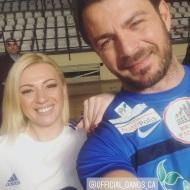 Ο Γιώργος μαζί με την αθλητική δημοσιογράφο Γεωργία Παναγιοτοπούλου στον φιλανθρωπικό αγώνα ποδοσφαίρου που διεξήχθη στο ΔΑΚ Γλυφάδας στις 15 Δεκεμβρίου 2019 Φωτογραφία: georg1apan_ Instagram