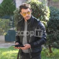 """Ο Γιώργος κατά τη διάρκεια των γυρισμάτων της σειράς """"Αν ήμουν πλούσιος"""" Φωτογραφία: ZappIt"""