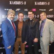 Ο Γιώργος με τον Μάρκο, τον Τάσο Νούγκα και τον Γιάννη Καπετάνιο στην avant premiere της ταινίας Χαλβάη 5-0 στη Θεσσαλονίκη - 28 Ιανουαρίου 2020 Φωτογραφία: anastasios_ntougkas Instagram