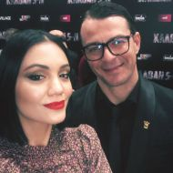 Ο Γιώργος με την Άννα Αμανατίδου στην avant premiere της ταινίας Χαλβάη 5-0 στη Θεσσαλονίκη - 28 Ιανουαρίου 2020 Φωτογραφία: anna_amanatidou Instagram