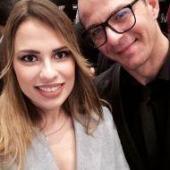 Ο Γιώργος με την Αργυρώ Μαγκλάρι στην avant premiere της ταινίας Χαλβάη 5-0 στη Θεσσαλονίκη - 28 Ιανουαρίου 2020 Φωτογραφία: argyro_maglary Instagram