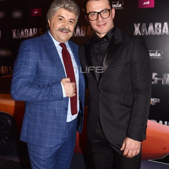 Ο Γιώργος και ο Μάρκος στην avant premiere της ταινίας Χαλβάη 5-0 στην Αθήνα - 27 Ιανουαρίου 2020 Φωτογραφία: Πέτρος Χόντος - TLife