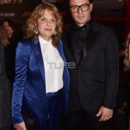 Ο Γιώργος με τη μητέρα του, κ. Ράνια, στην avant premiere της ταινίας Χαλβάη 5-0 στην Αθήνα - 27 Ιανουαρίου 2020 Φωτογραφία: Πέτρος Χόντος - TLife