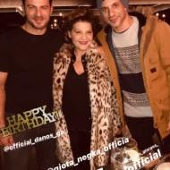 Ο Γιώργος μαζί με Γιώργο Χρανιώτη και Γιώτα Νέγκα στο πάρτι έκπληξη για τα γενέθλιά του - 8 Ιανουαρίου 2020 Φωτογραφία: eltorou Instagram