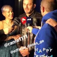 Ο Γιώργος εν ώρα δηλώσεων στο πάρτι έκπληξη για τα γενέθλιά του - 8 Ιανουαρίου 2020 Φωτογραφία: eltorou Instagram