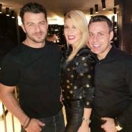 Ο Γιώργος μαζί με Αναστάσιο Ντούγκα και Μαρία Φραγκάκη στο πάρτι έκπληξη για τα γενέθλιά του - 8 Ιανουαρίου 2020 Φωτογραφία: fragakimaria Instagram