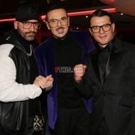 Ο Γιώργος μαζί με τον Νίκο Βουρλιώτη στην avant premiere της ταινίας Χαλβάη 5-0 στην Αθήνα - 27 Ιανουαρίου 2020 Φωτογραφία: FThis
