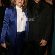 Ο Γιώργος με τη μητέρα του, κ. Ράνια, στην avant premiere της ταινίας Χαλβάη 5-0 στην Αθήνα - 27 Ιανουαρίου 2020 Φωτογραφία: FThis
