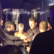 Ο Γιώργος εν ώρα δηλώσεων στο πάρτι έκπληξη για τα γενέθλιά του - 8 Ιανουαρίου 2020 Φωτογραφία: gkolyris Instagram