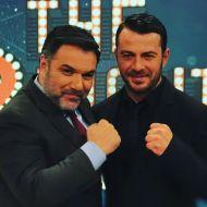 Ο Γιώργος μαζί με τον Γρηγόρη Αρναούτογλου στην εκπομπή The 2Night Show - 23 Ιανουαρίου 2020 Φωτογραφία: grigorisarnaoutoglou.official Instagram