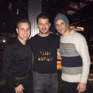 Ο Γιώργος μαζί με Γιώργο Χρανιώτη και Αναστάσιο Ντούγκα στο πάρτι έκπληξη για τα γενέθλιά του - 8 Ιανουαρίου 2020 Φωτογραφία: hraniotis_giorgos_official Instagram