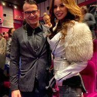 Ο Γιώργος με την Ιωάννα Λίλη στην avant premiere της ταινίας Χαλβάη 5-0 στη Θεσσαλονίκη - 28 Ιανουαρίου 2020 Φωτογραφία: ioanna_lili Instagram