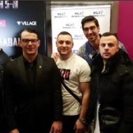 Ο Γιώργος με φίλους στην avant premiere της ταινίας Χαλβάη 5-0 στη Θεσσαλονίκη - 28 Ιανουαρίου 2020 Φωτογραφία: nikosmermigas90 Instagram