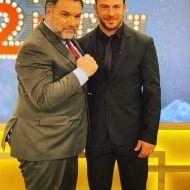 Ο Γιώργος μαζί με τον Γρηγόρη Αρναούτογλου στην εκπομπή The 2Night Show - 23 Ιανουαρίου 2020 Φωτογραφία: official_danos_ga Instagram
