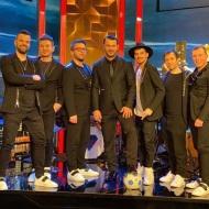 Ο Γιώργος μαζί με τη μπάντα Prestige στην εκπομπή The 2Night Show - 23 Ιανουαρίου 2020 Φωτογραφία: official_danos_ga Instagram