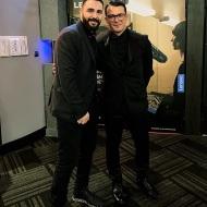 Ο Γιώργος με τον φίλο του Σήφη στην avant premiere της ταινίας Χαλβάη 5-0 στην Αθήνα - 27 Ιανουαρίου 2020 Φωτογραφία: sifis_i_g Instagram