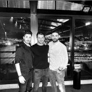 Ο Γιώργος μαζί με Αλέξανδρο Τζουγκανάκη και Σήφη στο πάρτι έκπληξη για τα γενέθλιά του - 8 Ιανουαρίου 2020 Φωτογραφία: sifis_i_g Instagram