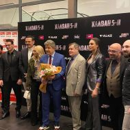 Ο Γιώργος στην avant premiere της ταινίας Χαλβάη 5-0 στη Θεσσαλονίκη - 28 Ιανουαρίου 2020 Φωτογραφία: smaragda_mkz Instagram