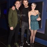 Ο Γιώργος μαζί με Αναστάσιο Ντούγκα και Ράνια Κωστάκη στο πάρτι έκπληξη για τα γενέθλιά του - 8 Ιανουαρίου 2020 Φωτογραφία: Πέτρος Χόντος - TLife