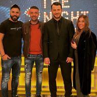 Ο Γιώργος μαζί με φίλους και τη στυλίστριά του, Έλενα Γεραρχάκη, στην εκπομπή The 2Night Show - 23 Ιανουαρίου 2020 Φωτογραφία: to_barberiko Instagram