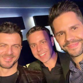 Ο Γιώργος μαζί με Γιώργο Τσαλίκη και Αναστάσιο Ντούγκα στο πάρτι έκπληξη για τα γενέθλιά του - 8 Ιανουαρίου 2020 Φωτογραφία: tsalikisgiorgos Instagram