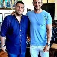 """Ο Γιώργος μαζί με τον αντιδήμαρχο οικονομικών Ρόδου και χρόνια φίλο του, Τηλέμαχο Καμπούρη, στη Ρόδο για τον """"Φύλακα Άγγελο"""" - 10 Αυγούστου 2020 Φωτογραφία: Τηλέμαχος Καμπούρης Facebook"""
