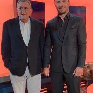 """Ο Γιώργος μαζί με τον Τάκη Χατζή κατά τη συνέντευξή του για την εκπομπή """"Direct"""" - 11 Νοεμβρίου 2020 Φωτογραφία: takishatzis IG"""