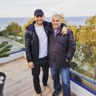 Ο Γιώργος μαζί με τον Χρήστο Ψέλλα στη Ρόδο - 25 Απριλίου 2021 Φωτογραφία: psellashris IG