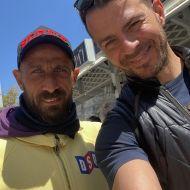 Ο Γιώργος μαζί με τον Γιάννη Αρχοντούλη στη Ρόδο - 26 Απριλίου 2021 Φωτογραφία: arxo10 IG