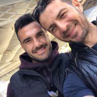 Ο Γιώργος μαζί με τον Διονύση Μακρυδημήτρη στη Ρόδο - 26 Απριλίου 2021 Φωτογραφία: psellashris IG